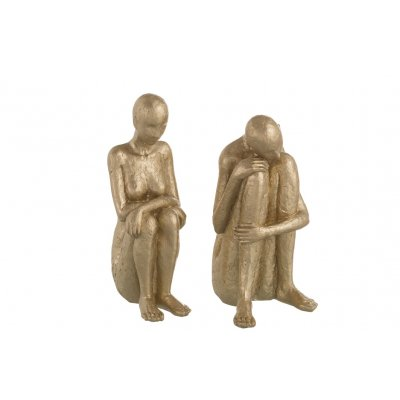 Zittende decoratie figuren goud