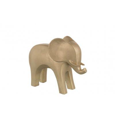 Decoratieve olifant goud l