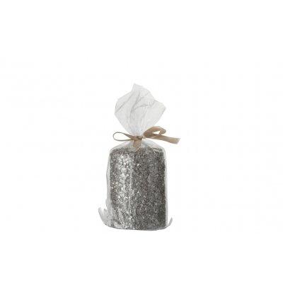 Cilinderkaars met glitter 28u s