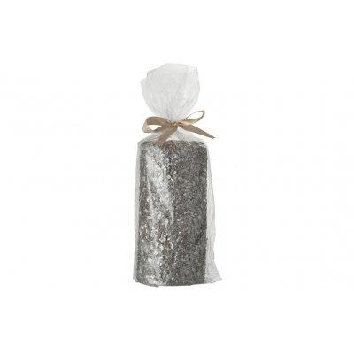 Cilinderkaars met glitter 38u l