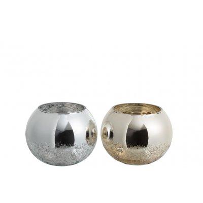 Windlicht zilver/goud m