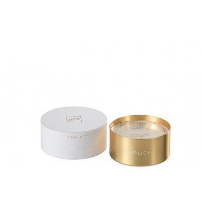 Geurkaars simplicity wit/goud
