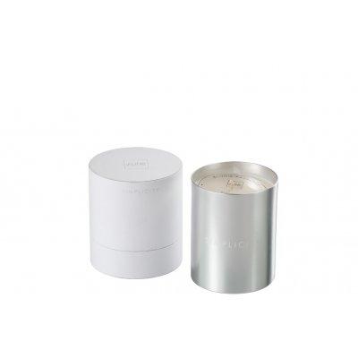 Geurkaars simplicity was wit/zilver