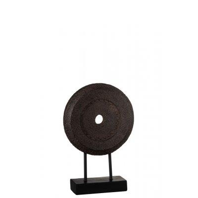 Cirkel onef voet pol bruin (15x8x31)