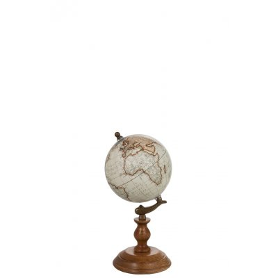 Wereldbol op vt hout/nat s