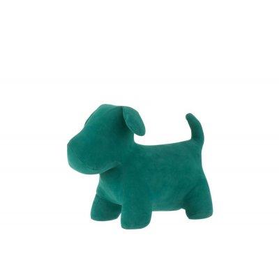 Hond deurstop mat fluw groen m 2713