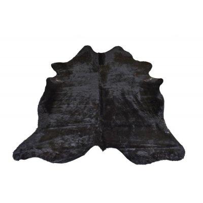 Koeienvel leer zwart (218x225cm) j-line 18693