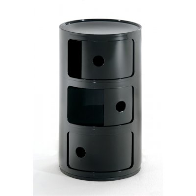 Bijzetmeubel componibili zwart