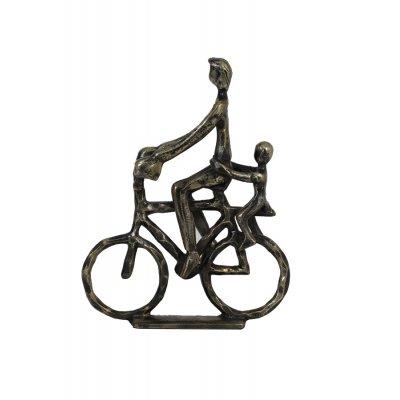 Cyclist ornament ant brons 24x6x30