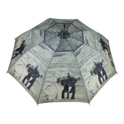 Paraplu hout mops & franse bulldog