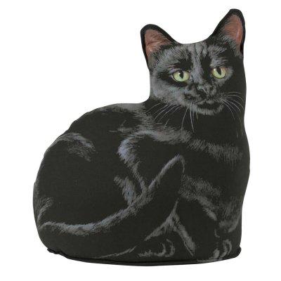 Deurstopper kat zwart (26cm)