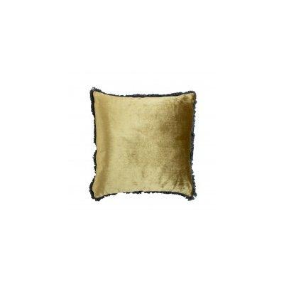 Fluweel kussen goud 45x45