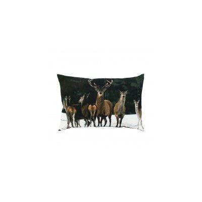 Kussen canvas groot roedel herten 40x60
