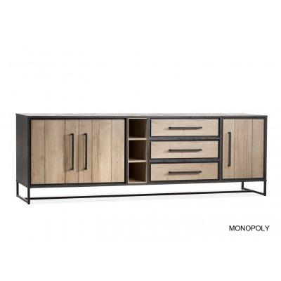 Monopoly dressoir 3 dr/3la/3 open lamulux