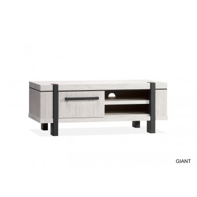 Giant tv kast laag 1 dr/2 open vak lamulux