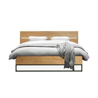 Bed + dwarsbalk 180 x 200 lamulux natur
