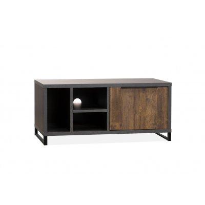 Tv-kast parker klein 1d/3o lamulux onyx/mokka