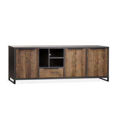 Tv-kast parker 3d/1l/3o lamulux onyx/mokka