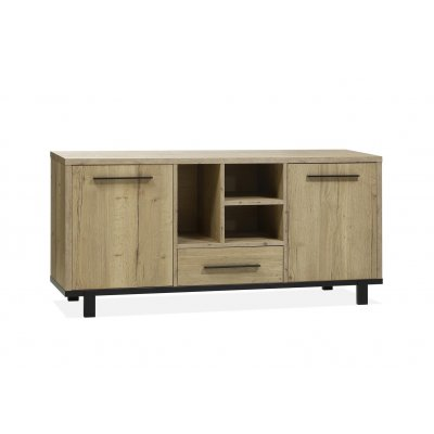Dressoir woody 2 deuren/1 lade/3 open lamulux natur