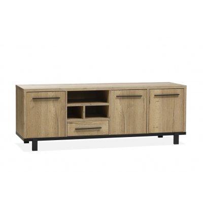 Tv-dressoir 3 deuren/ 1 lade/ 3 open lamulux natur