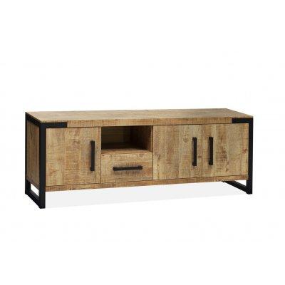 Tv-dressoir galaxy 3 deuren/1 lade/1 open lamulux mango