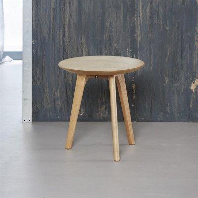 Bijzettafel rond hout - diameter 40cm