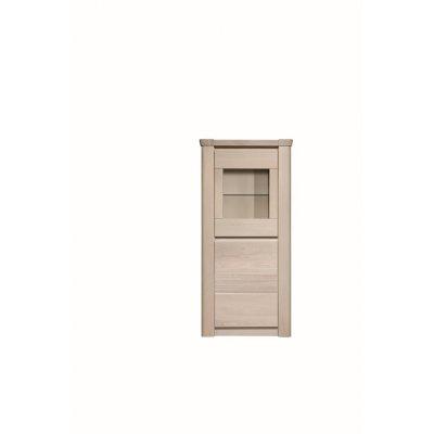 Vitrinekast 1 deur - glas - verlichting