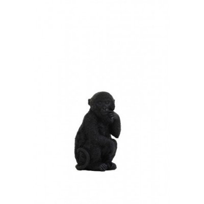 Monkey ornament zwart