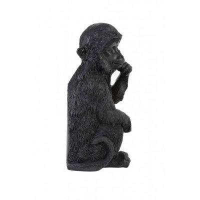 Monkey wandornament zwart