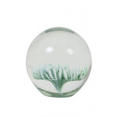 Flower ornament glas groen