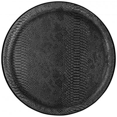 Dienbl dragon zwart rnd neutraal 36cm -c-
