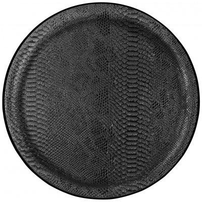 Dienbl dragon zwart rnd neutraal 45cm -c-