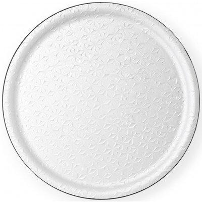 Dienblad kit blanc rond 45cm