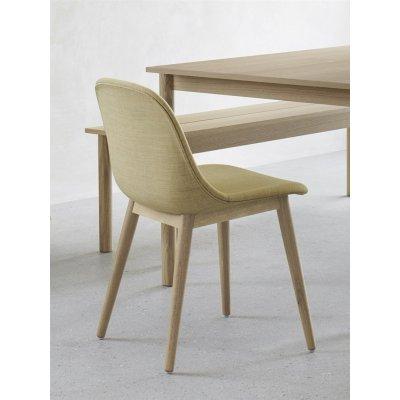 Fiber stoel (houten onderstel)
