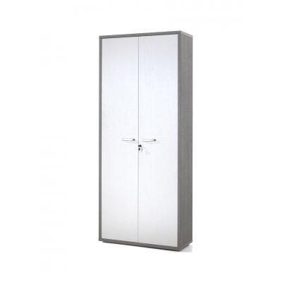 Kast - 2 deuren (grijs+wit)