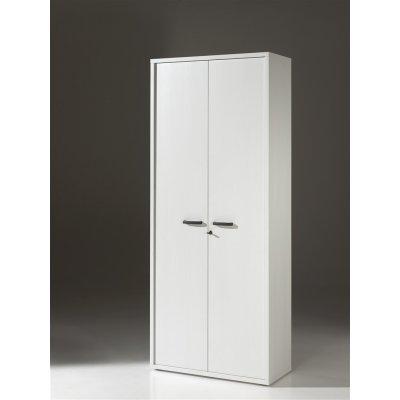 Kast 2 deuren met slot (wit)
