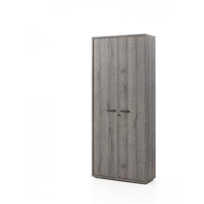 Kast 2 deuren met slot (sherman grijs)