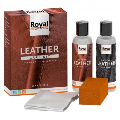 Leather care kit for waxed leather onderhoud leder