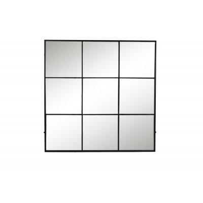 Palace spiegel 9 onderverd ijzer zwart