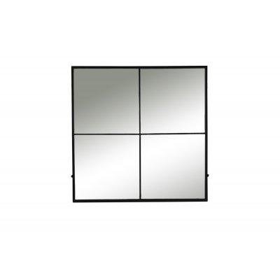 Palace spiegel 4 onderverd ijzer zwart