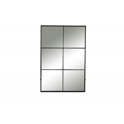 Palace spiegel 6 onderverd ijzer zwart