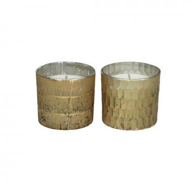 Honiver geurkaars s2 glas goud