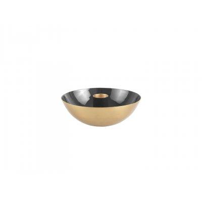 Kaarsenhouder zwart/goud (10cm)