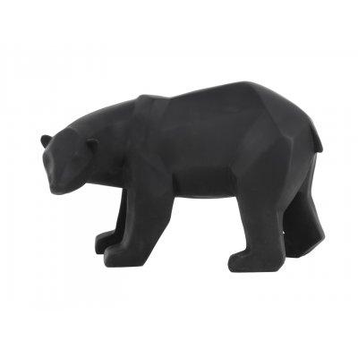 Beeld beer mat zwart large