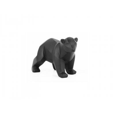 Beeld beer mat zwart small