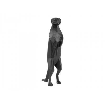 Beeld meerkat mat zwart