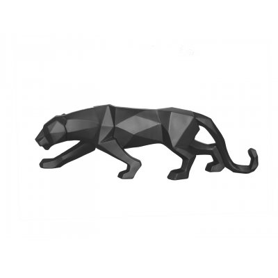 Beeld panter mat zwart
