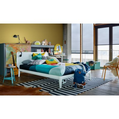 Bed essential 180x200 met aupingbodems in pure white