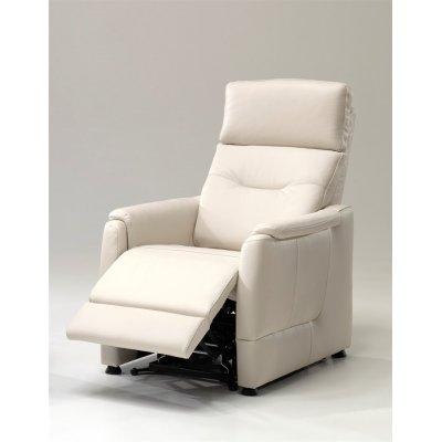 Relax in leder met opstahulp, 2 motoren en trolley