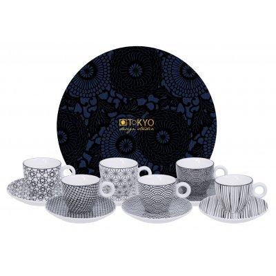 Nippon black esspr mug + saucer set12
